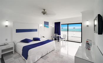 Deluxe Ocean View Room - Hotel Riu Caribe - All Inclusive 24 hours - Cancun, Mexico